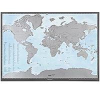 Карта мира состираемым слоем «Здесь быля»