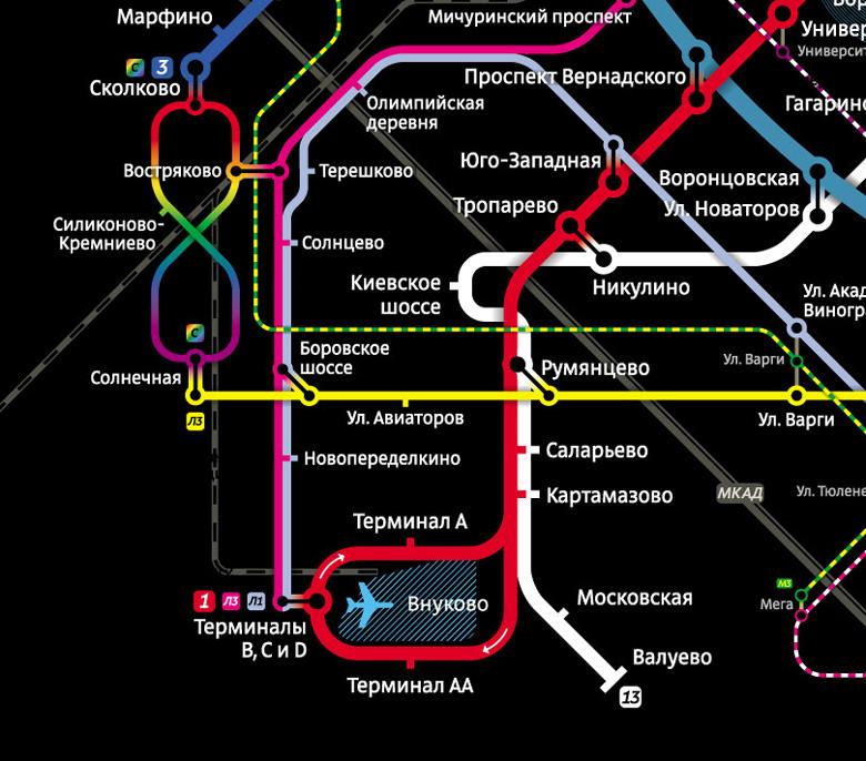 Сколковская кольцевая — ветка