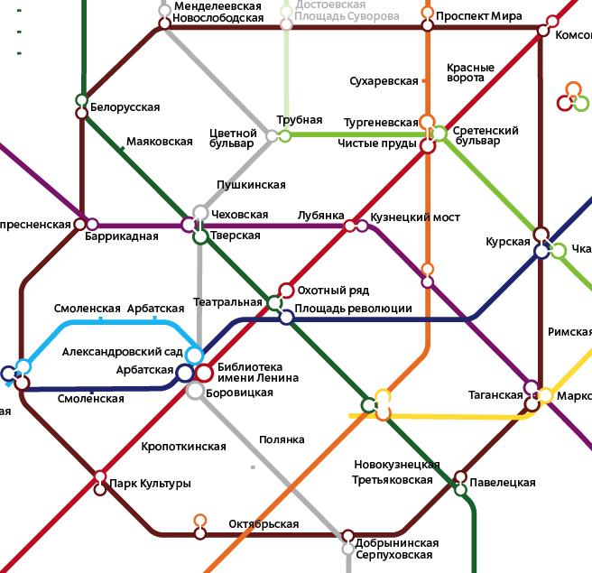 схем Московского метро