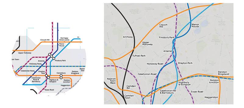 схема ЖД-линий и метро,