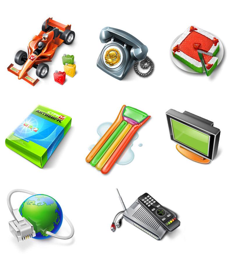 Иконки для внутренних страниц и главные иконки, используемые в навигации.