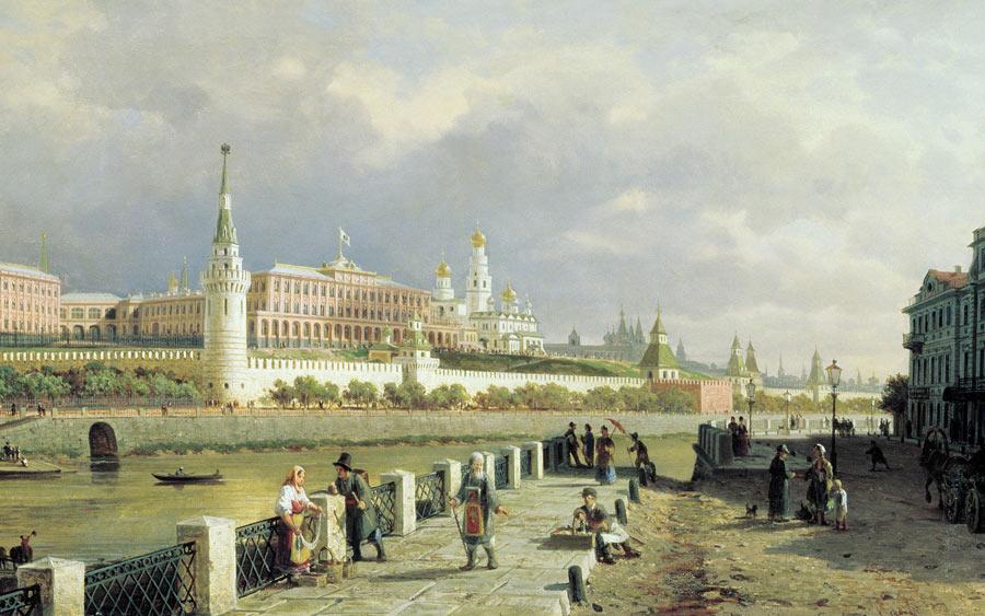 П Верещагин Вид Московского Кремля 1879