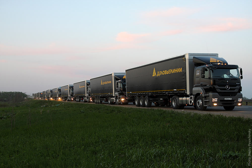 """Компания  """"Деловые линии """" производит транспортировку сборных грузов автотранспортом, контейнерные и авиаперевозки..."""