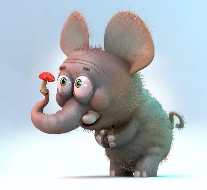 Поздравлениями, картинки с прикольными слониками