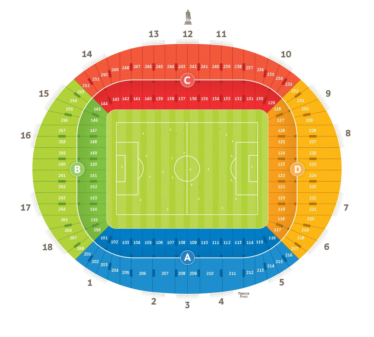 Дворец спорта «Лужники Схема лужников с местами и рядами
