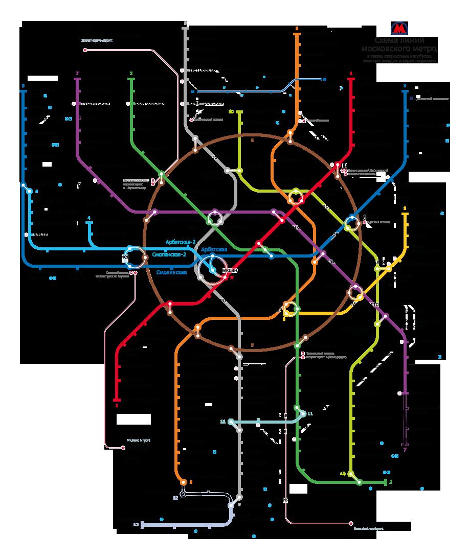 схема моск. метро