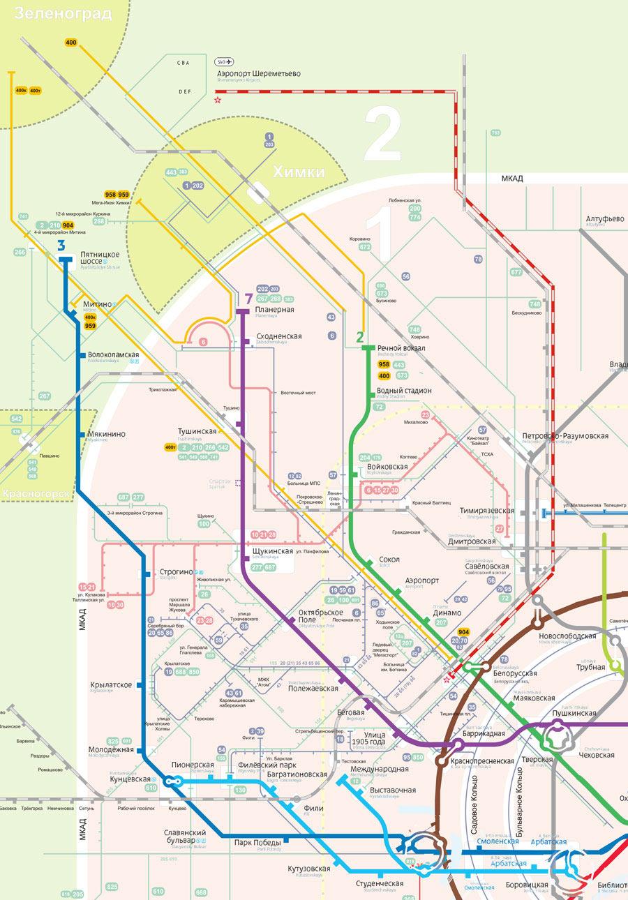 Схема автобусов химок