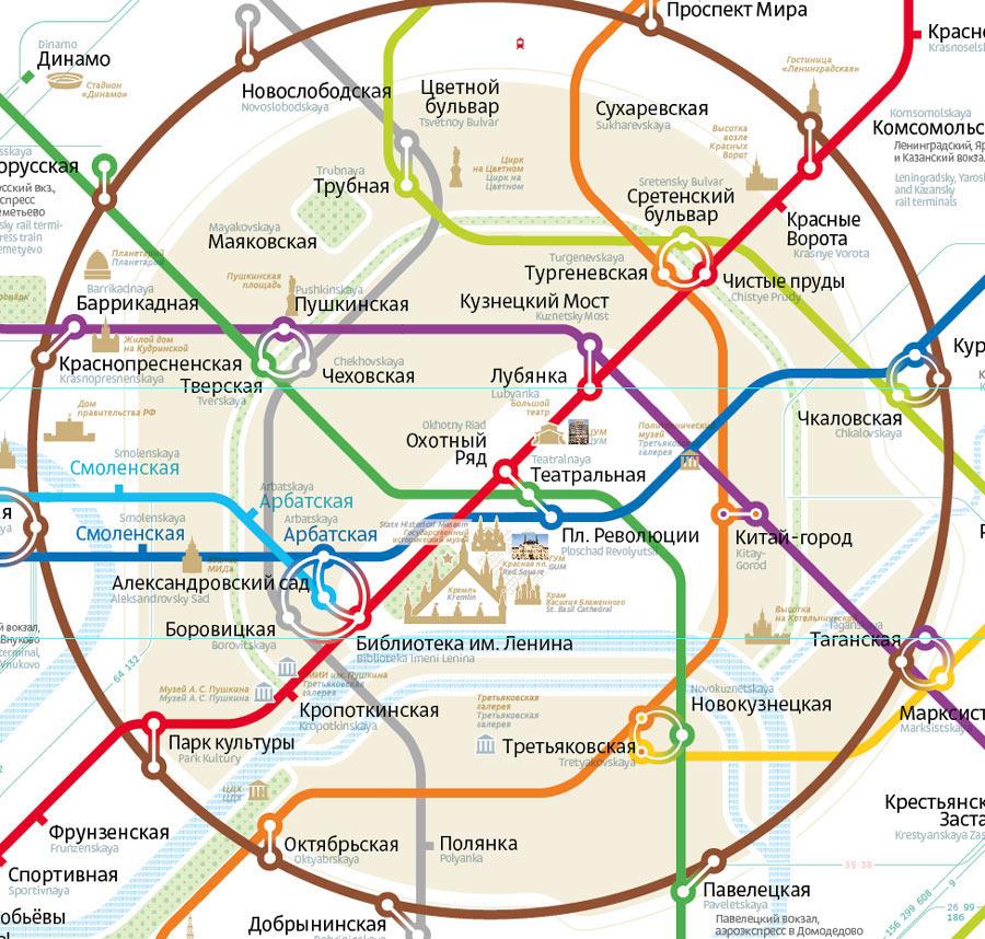 вручную карта метро проспект мира или